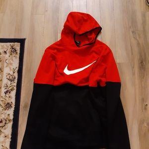 RED/BLACK NIKE PULLOVER HOODIE XL